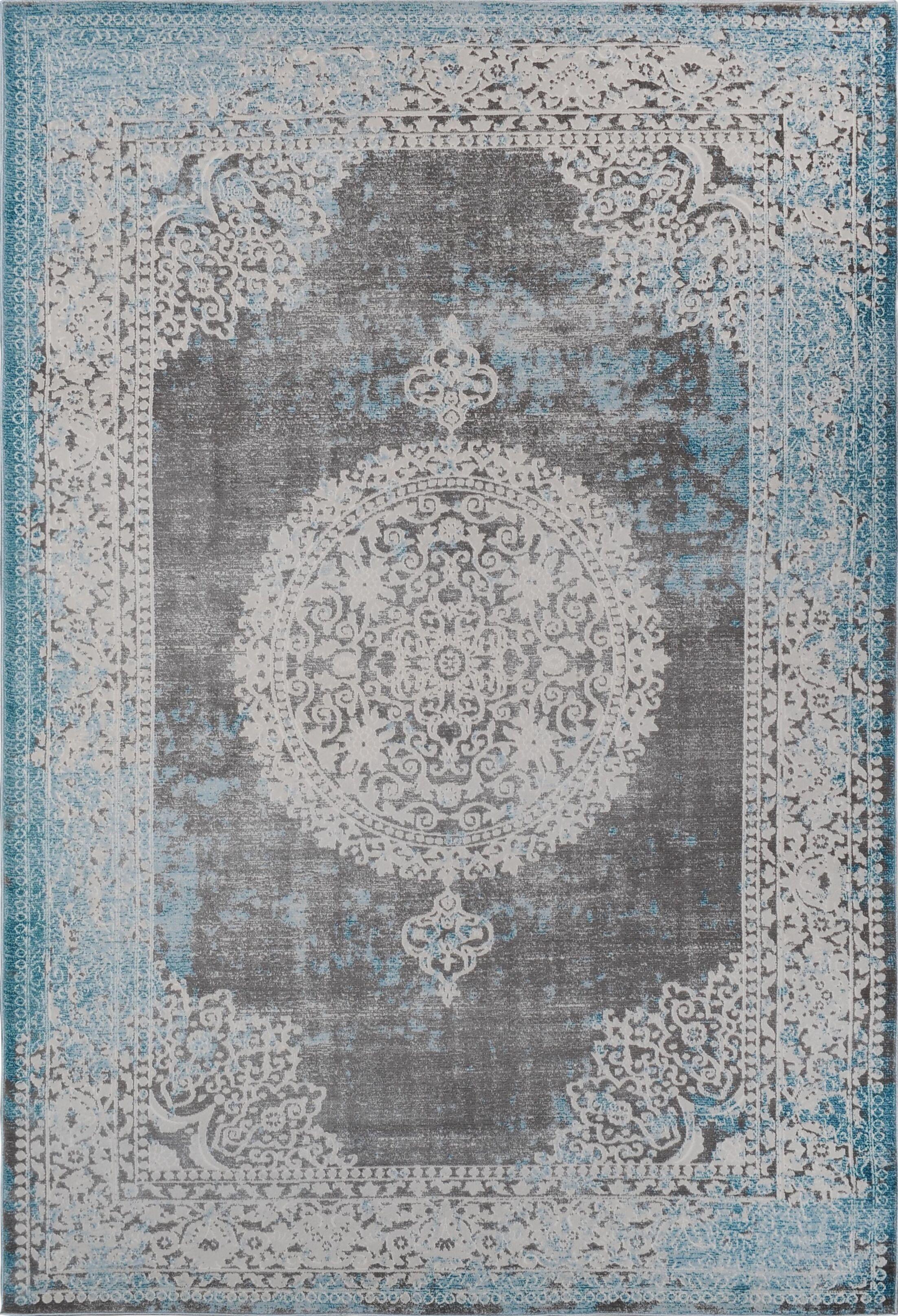 Paulsen Vintage Blue Area Rug Rug Size: 7'10