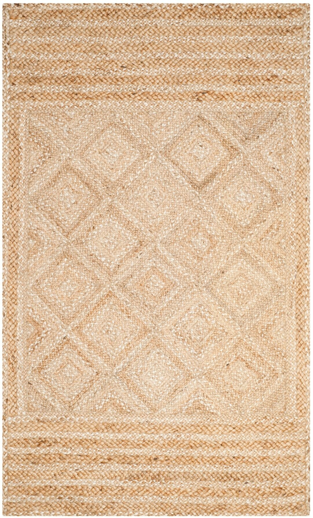 Leonard Hand-Woven Natural Area Rug Rug Size: Rectangle 5' x 8'