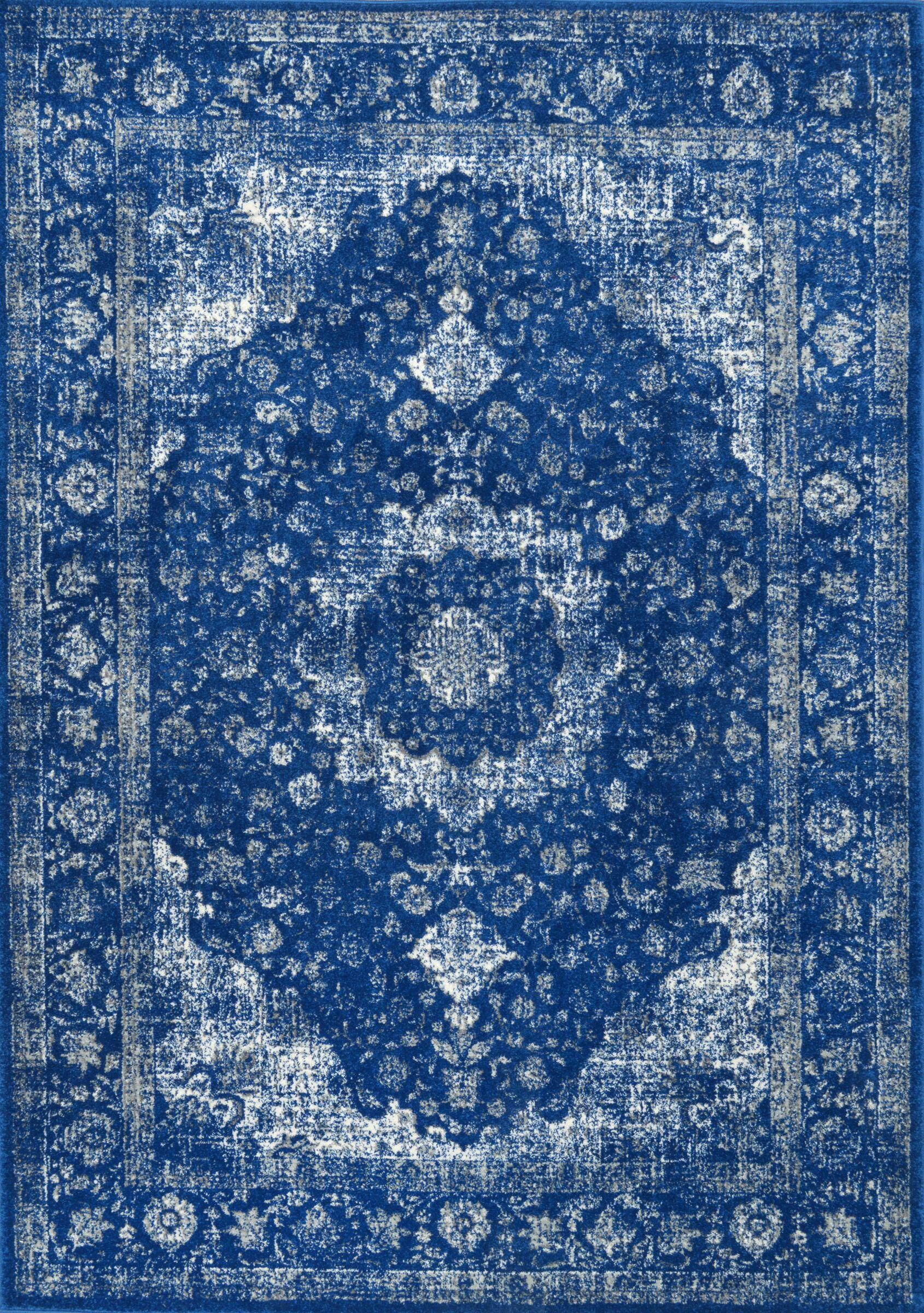Marisa Dark Blue Area Rug Rug Size: Rectangle 5' x 7'5