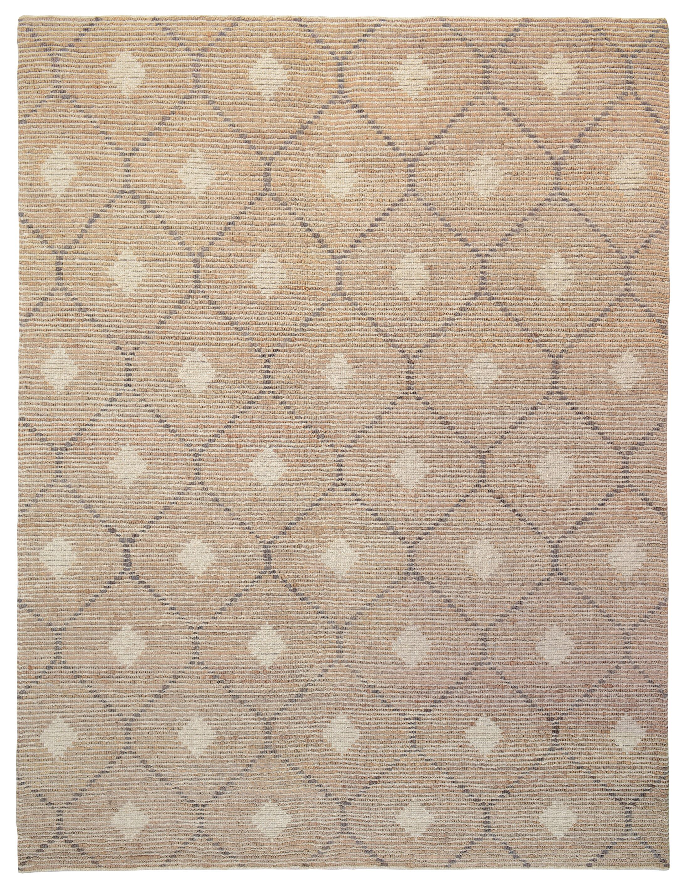 Veenendaal Hand-Woven Brown Area Rug Rug Size: 5' x 8'