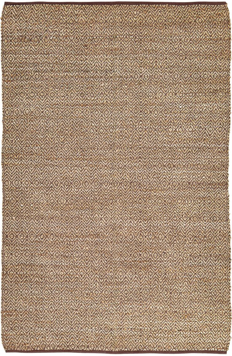 Lulie Hand-Woven Brown/Beige Area Rug Rug Size: 6' x 9'