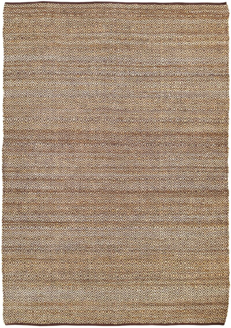 Lulie Hand-Woven Brown/Beige Area Rug Rug Size: 8' x 11'