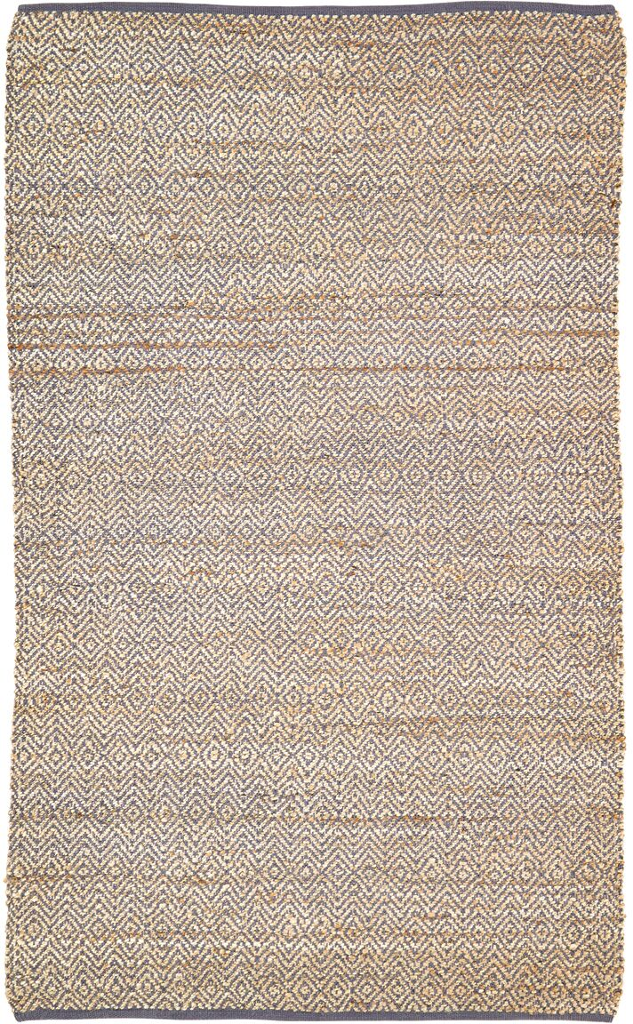 Lulie Hand-Woven Grey / Beige Area Rug Rug Size: 5' x 8'