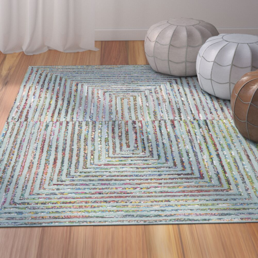 Tufted Cotton Area Rug Rug Size: Rectangle 3' x 5'