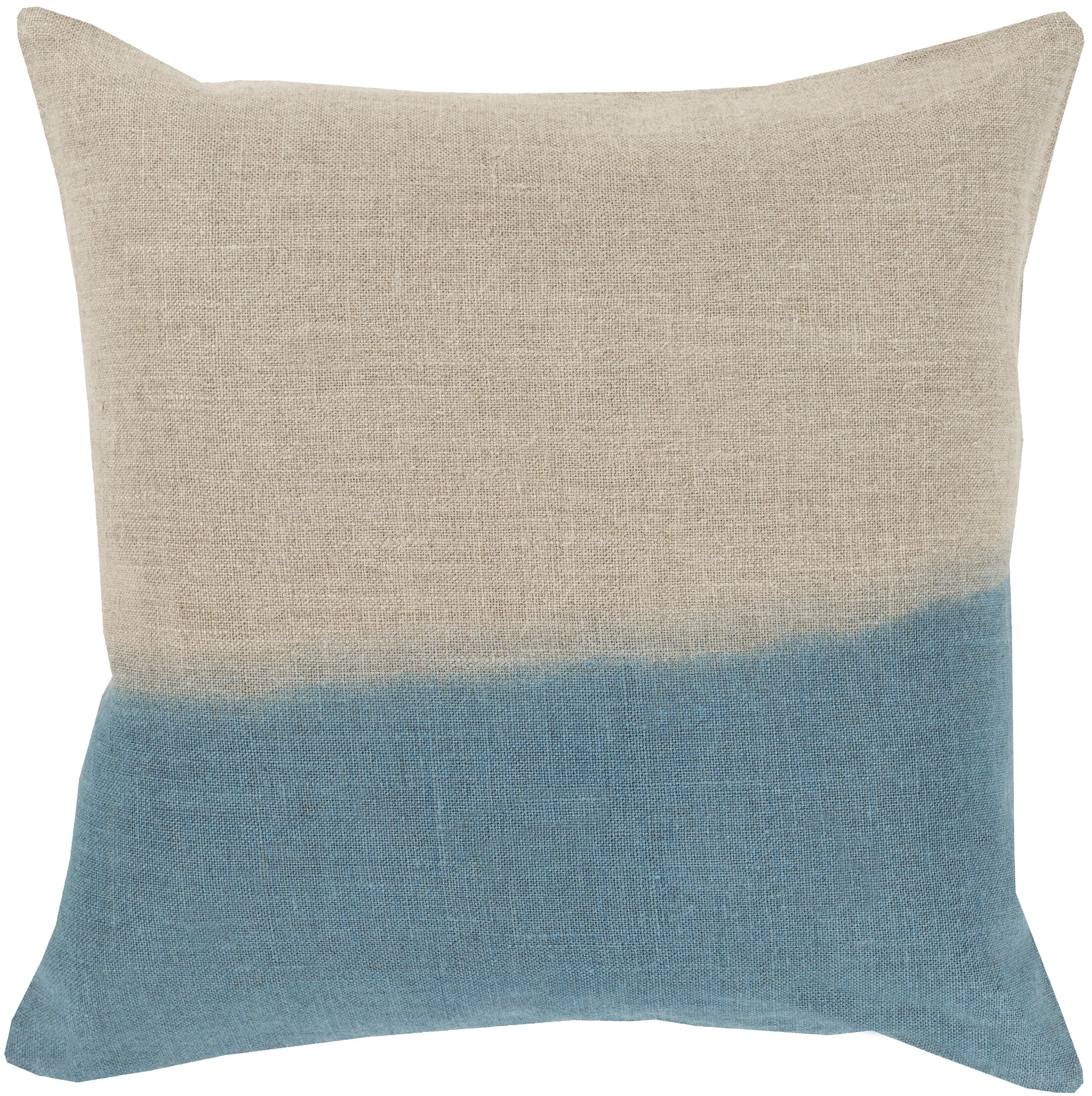 Byromville Linen Throw Pillow Color: Teal, Size: 20