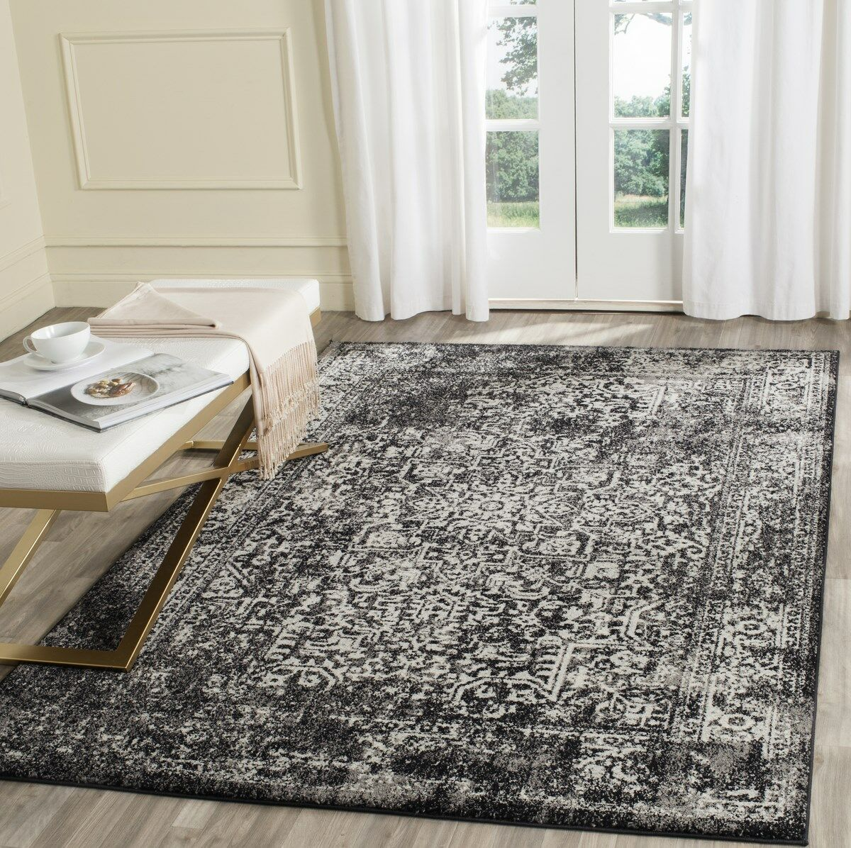 Elson Black/Gray Area Rug Rug Size: Rectangle 8' x 10'