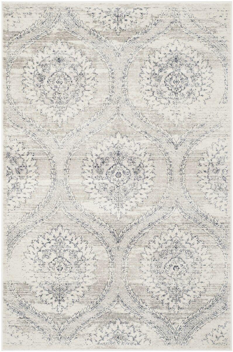 Lujan Gray/Black Area Rug Rug Size: Rectangle 5'1
