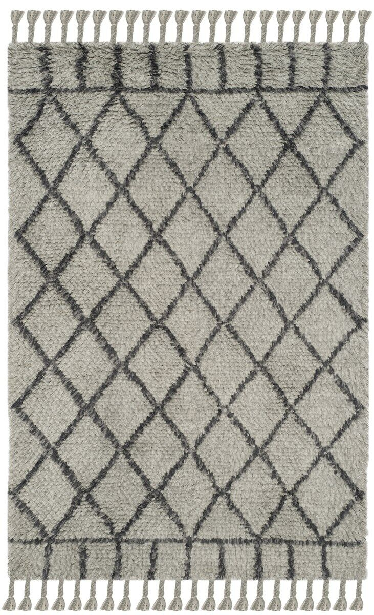Livingston Hand-Tufted Gray Area Rug Rug Size: Rectangle 4' x 6'