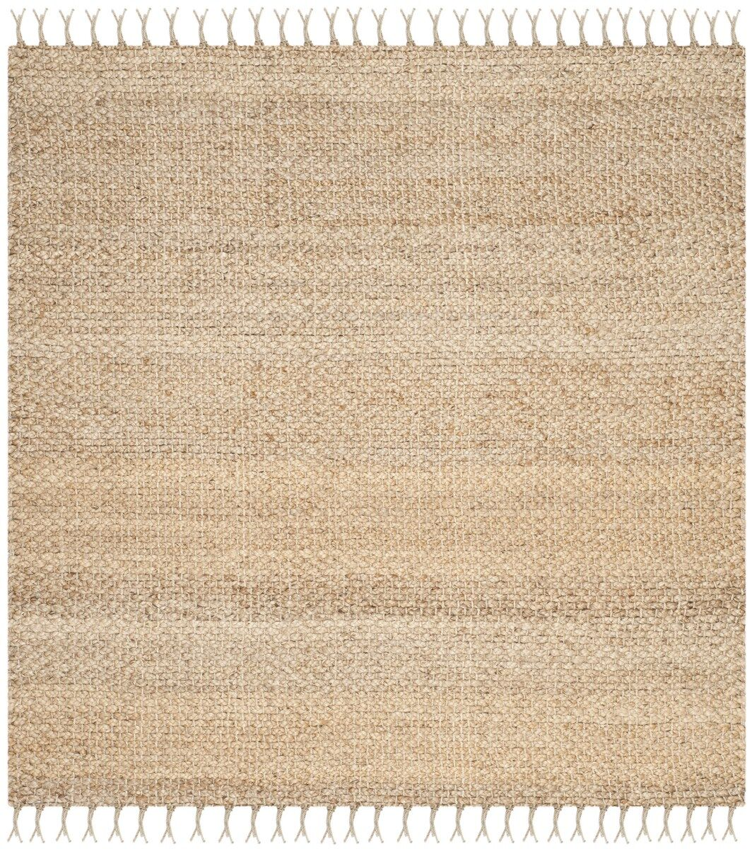 Liza Hand-Woven Natural Area Rug Rug Size: Square 5'