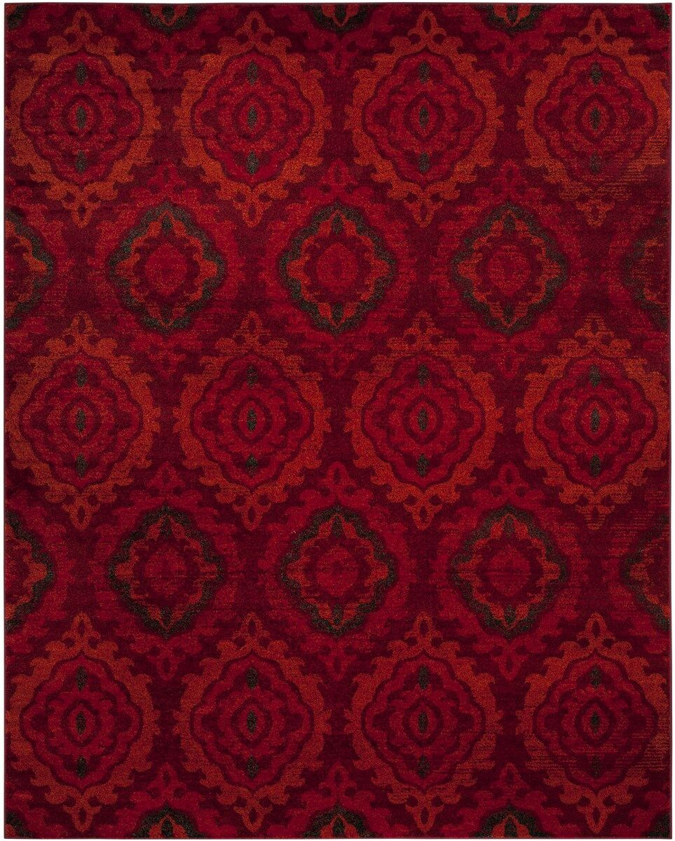 Luoma Red Area Rug Rug Size: Rectangle 9' x 12'