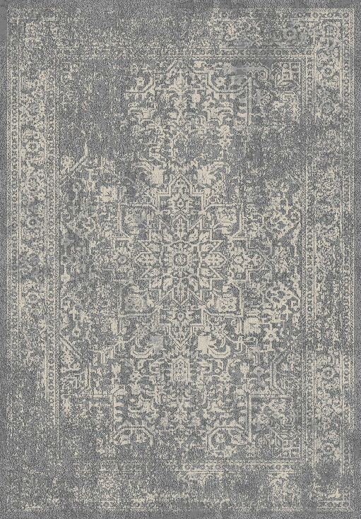 Chaudiere Silver/Ivory Area Rug Rug Size: Rectangle 8' x 10'