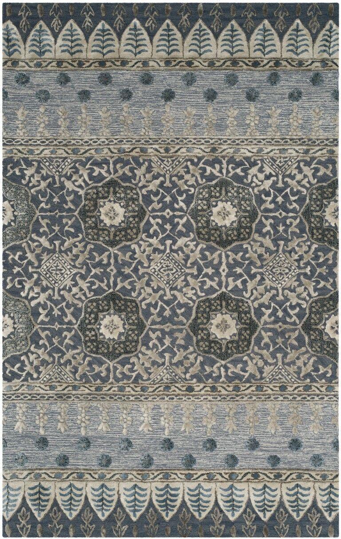 Nahant Hand-Tufted Denim Area Rug Rug Size: Rectangle 5' x 8'