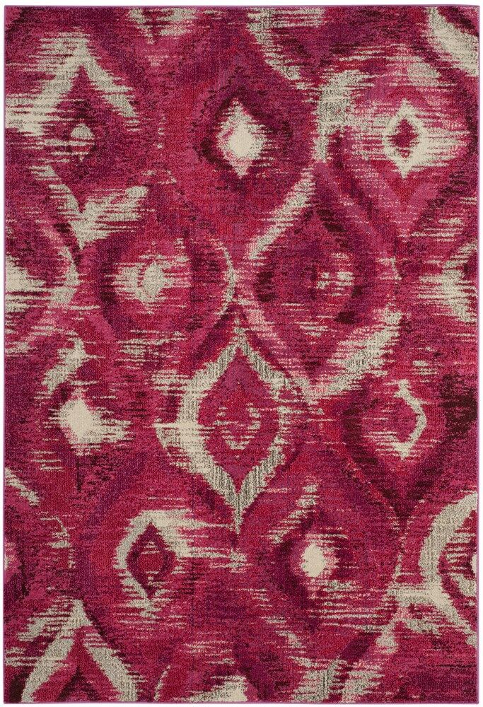 Lizotte Fuchsia / Cream Area Rug Rug Size: Rectangle 8' x 11'