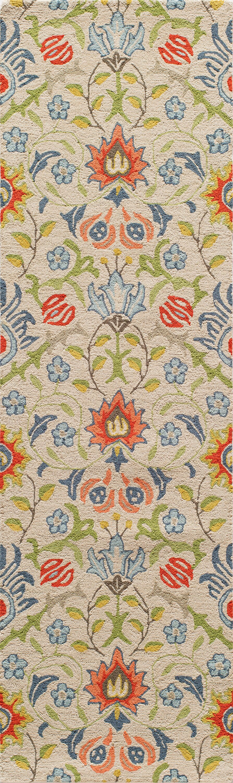 Anaya Hand-TuftedBeige/Green Area Rug Rug Size: Rectangle 9' x 12'
