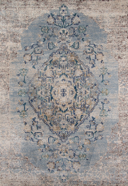 Damien Light Blue/Gray Area Rug Rug Size: Rectangle 7'10