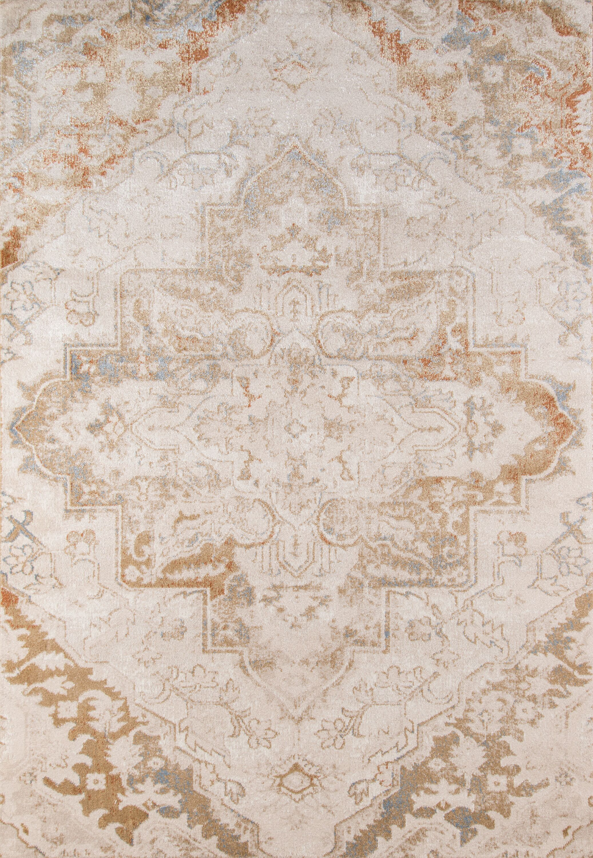 Damien Natural Area Rug Rug Size: Rectangle 5'3