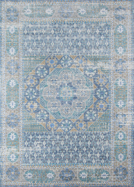 Alicia Blue Area Rug Rug Size: Rectangle 5' x 8'