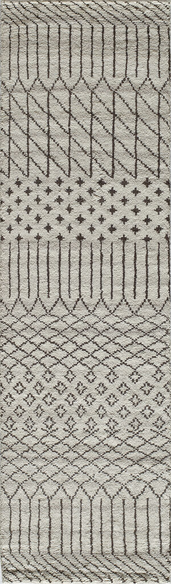 Dante Hand-Woven Gray/Cream Area Rug Rug Size: Rectangle 3'6