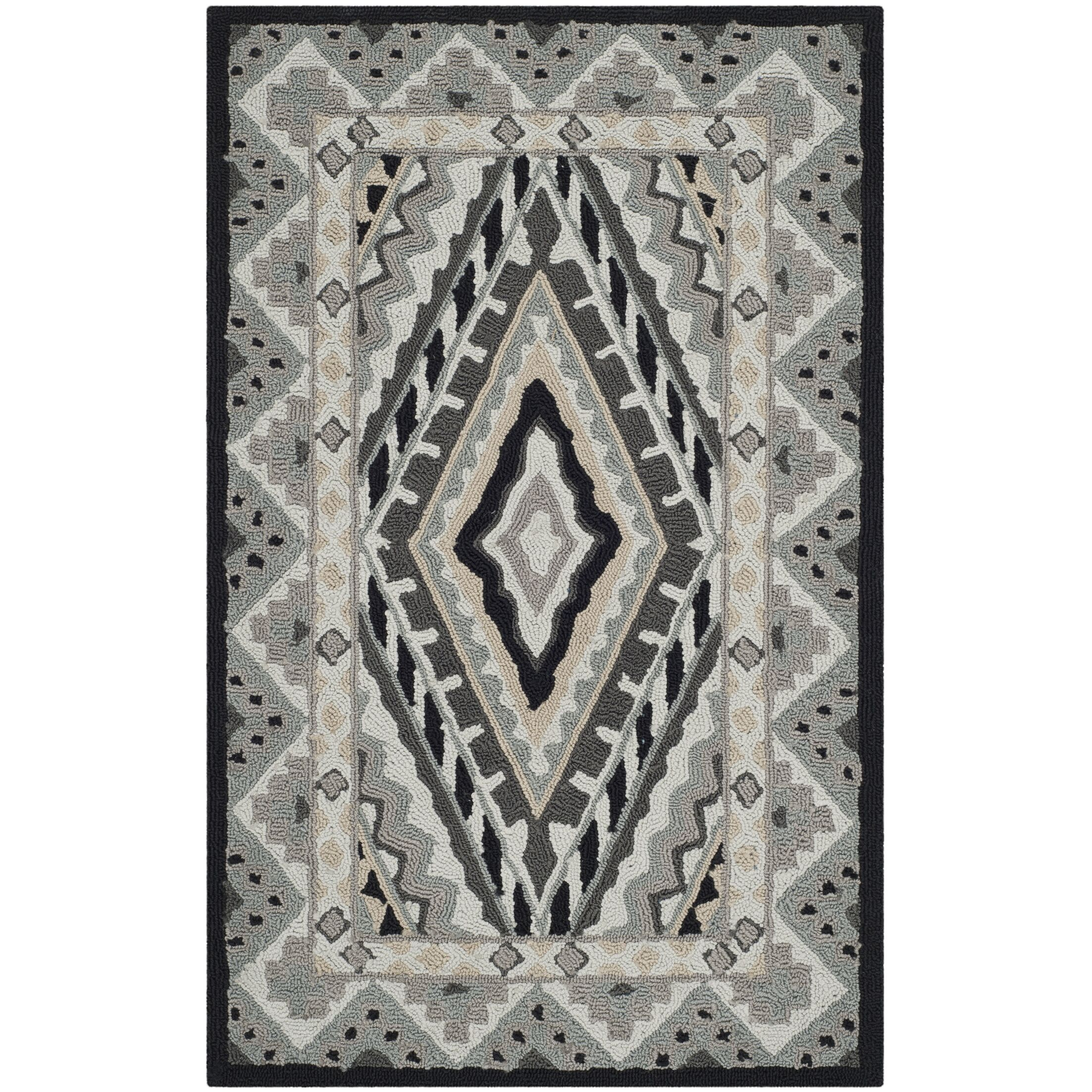 Puri Ivory/Grey Outdoor Area Rug Rug Size: Rectangle 8' x 10'