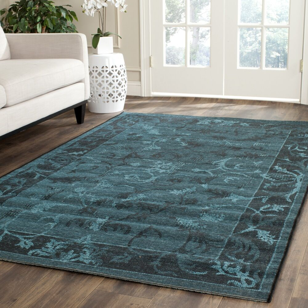 Port Laguerre Black and Turquoise Area Rug Rug Size: Rectangle 8' x 11'