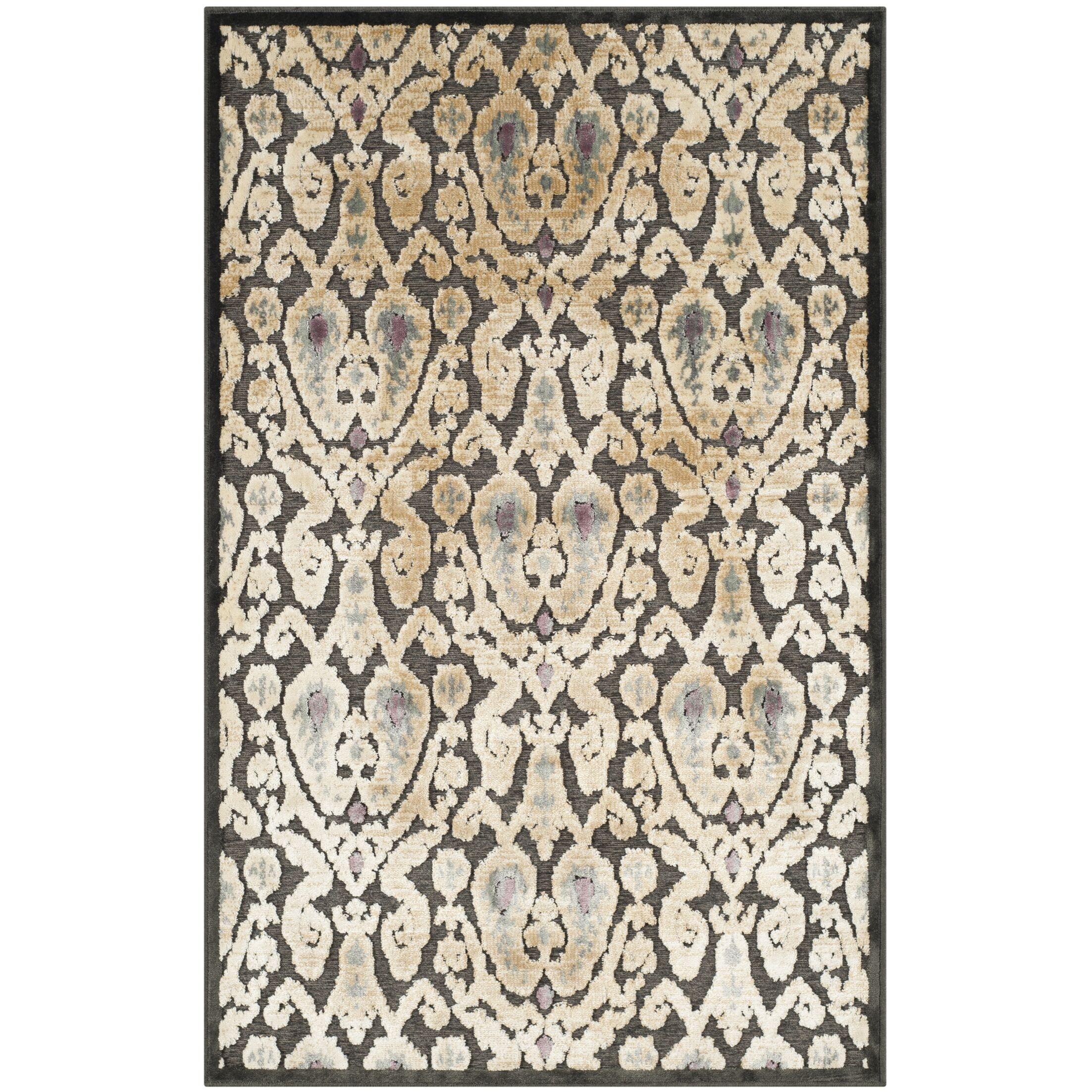Saint-Michel Black/Gray Rug Size: Rectangle 4' x 5'7