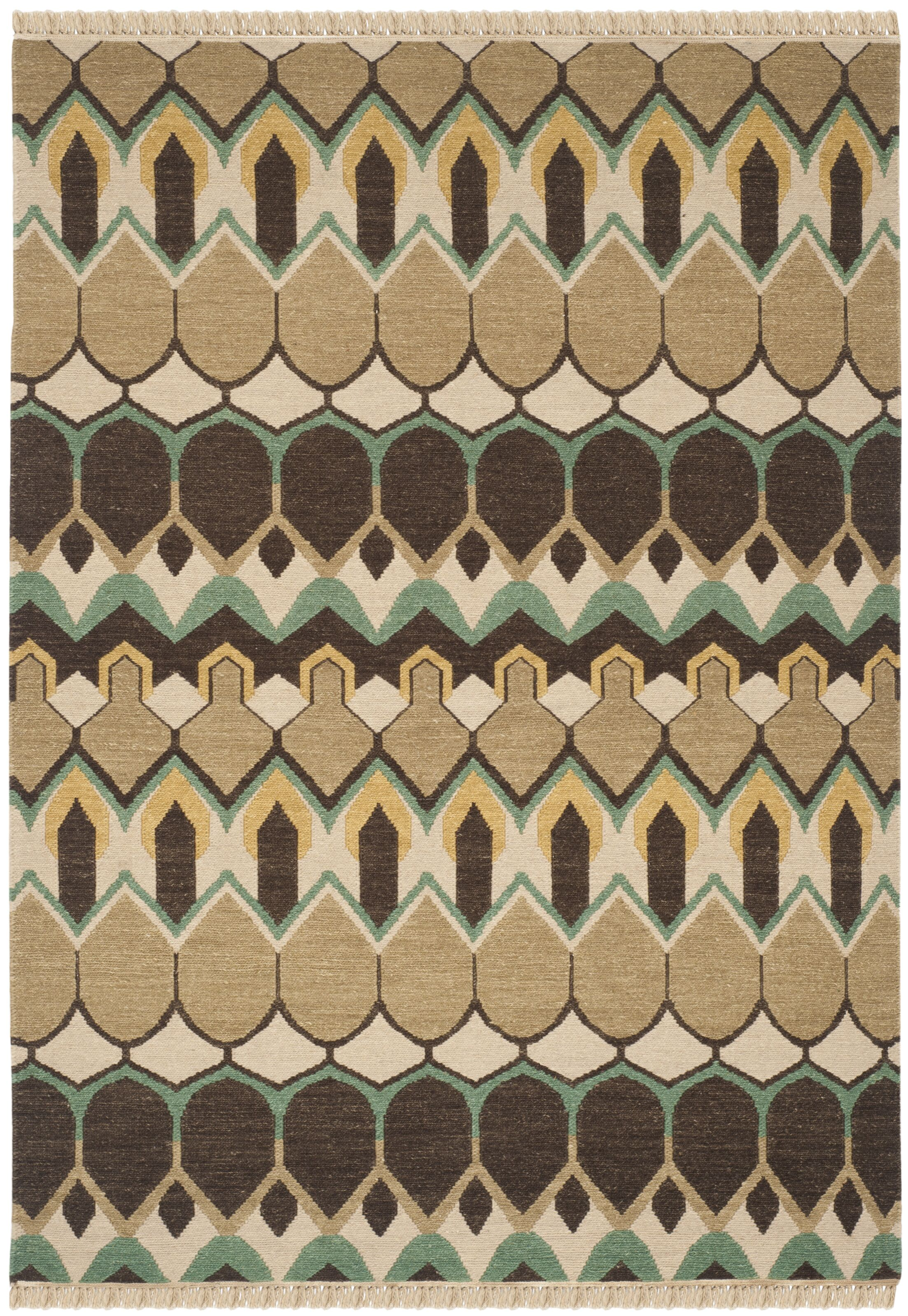 Saint-Paul Beige / Brown Area Rug Rug Size: Rectangle 6' x 9'