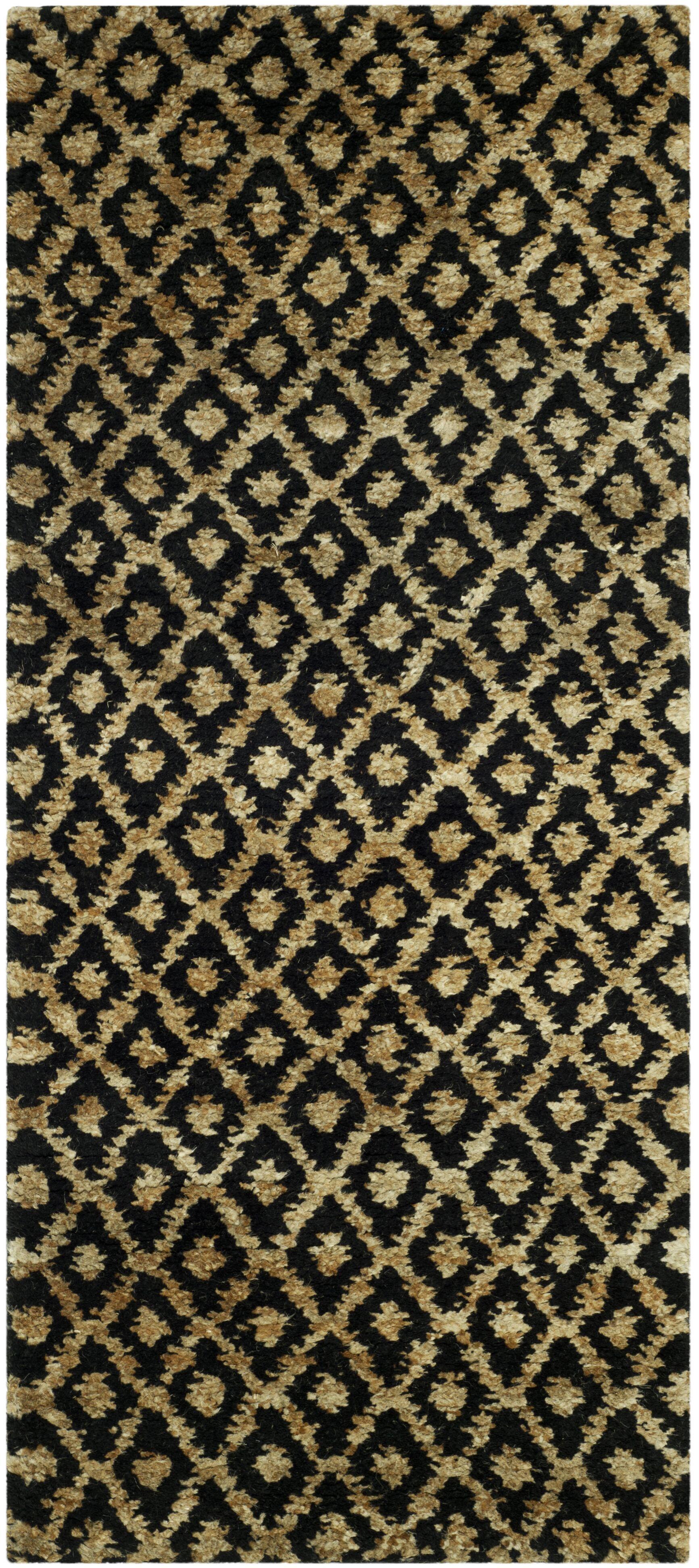 Pinehurst Black/Gold Area Rug Rug Size: Rectangle 5' x 8'