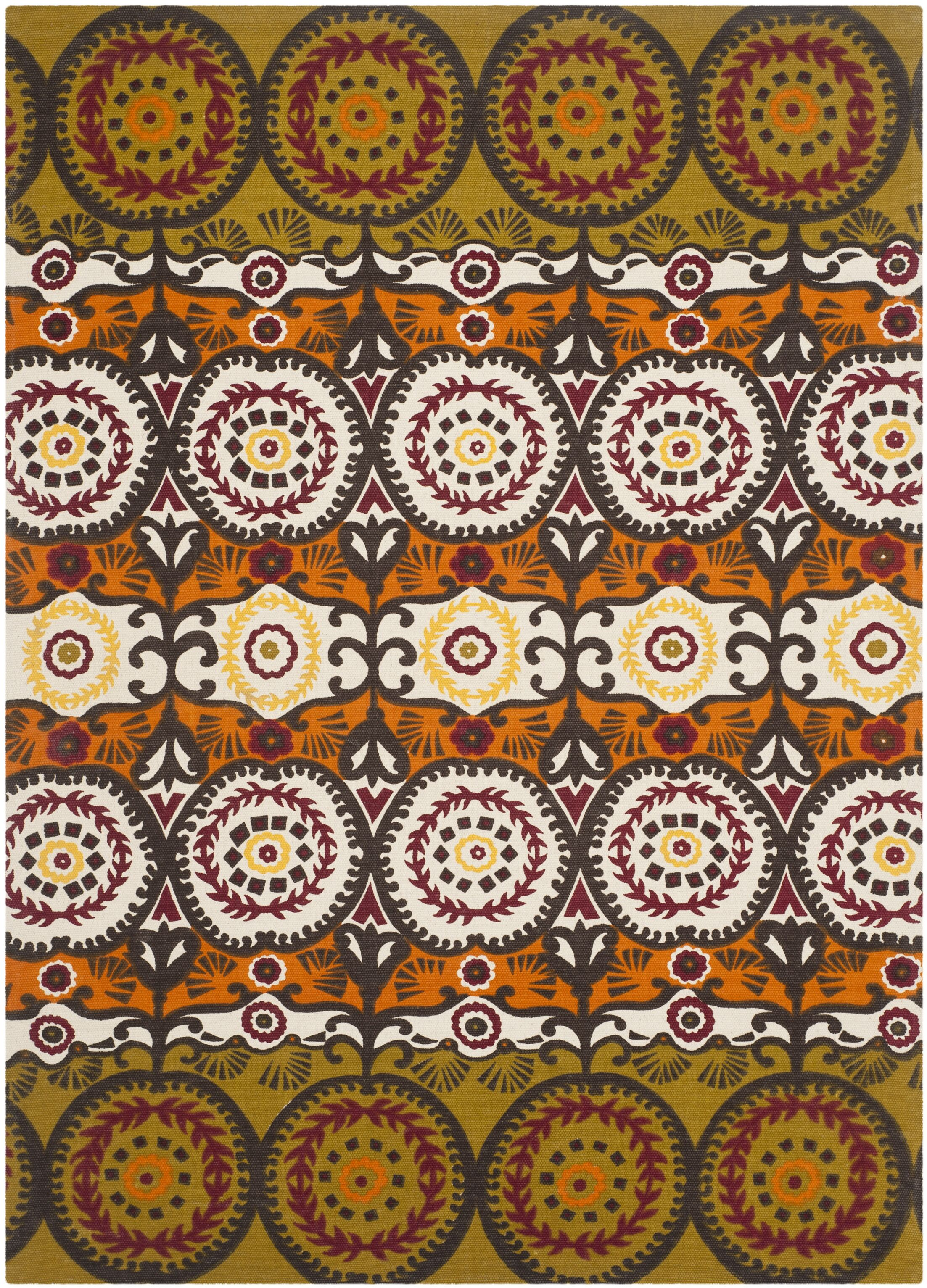 Allison Olive / Burgundy Contemporary Rug Rug Size: Rectangle 4' x 6'