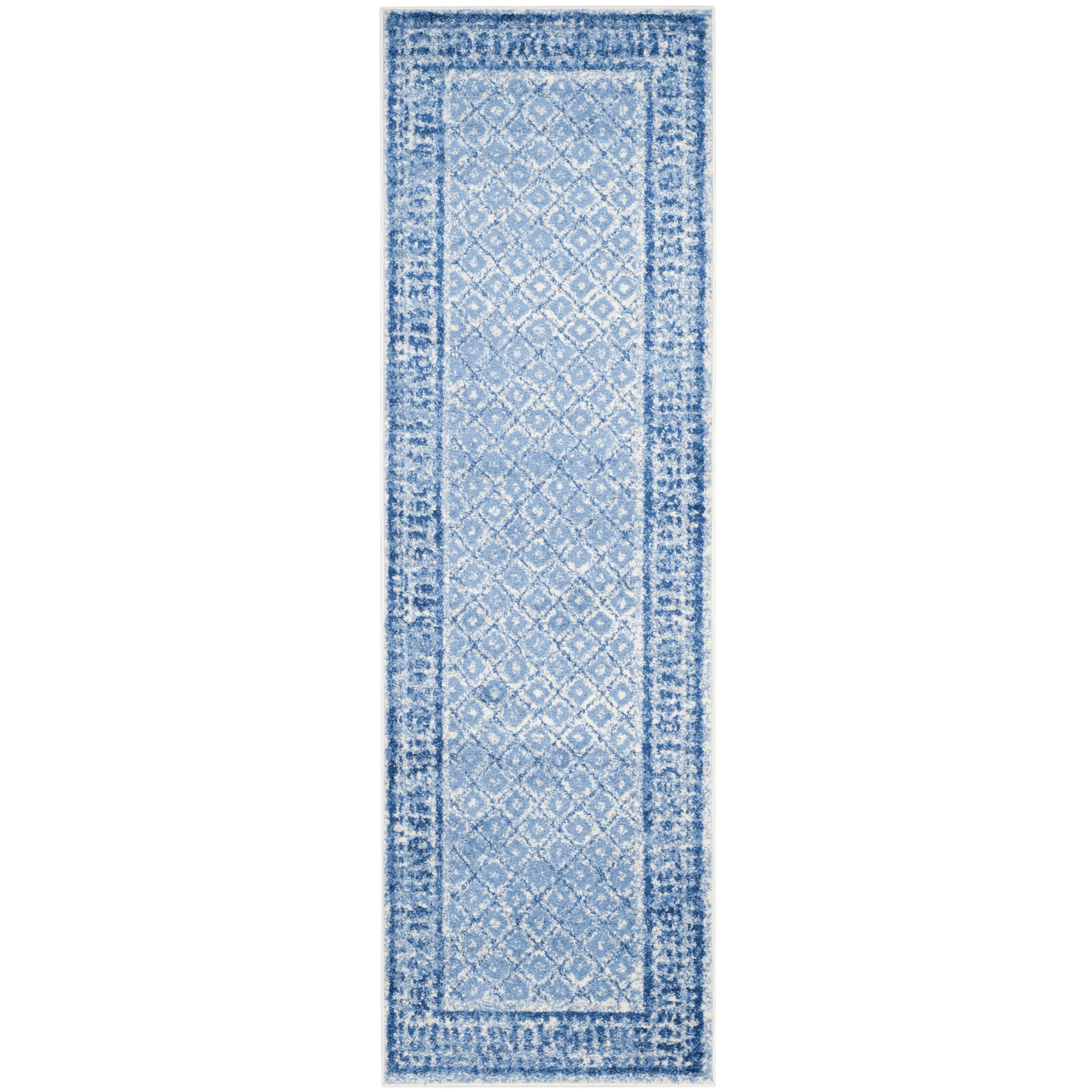 North Brookfield Silver & Blue Area Rug Rug Size: Runner 2'6