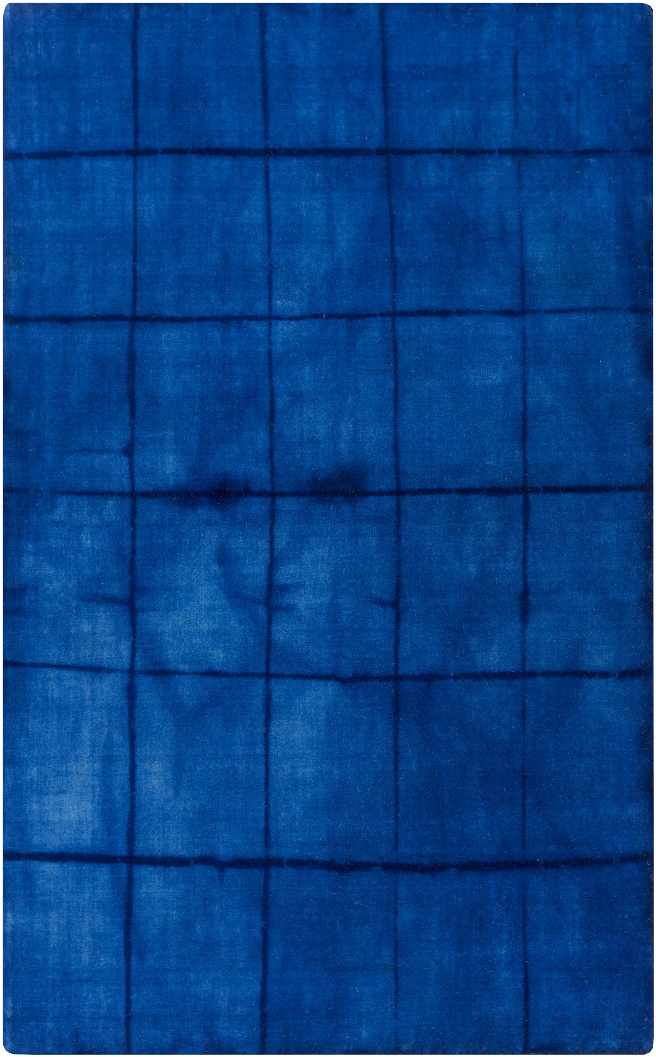 Steinsel Hand Woven Wool Cobalt Area Rug Rug Size: Rectangle 8' x 11'