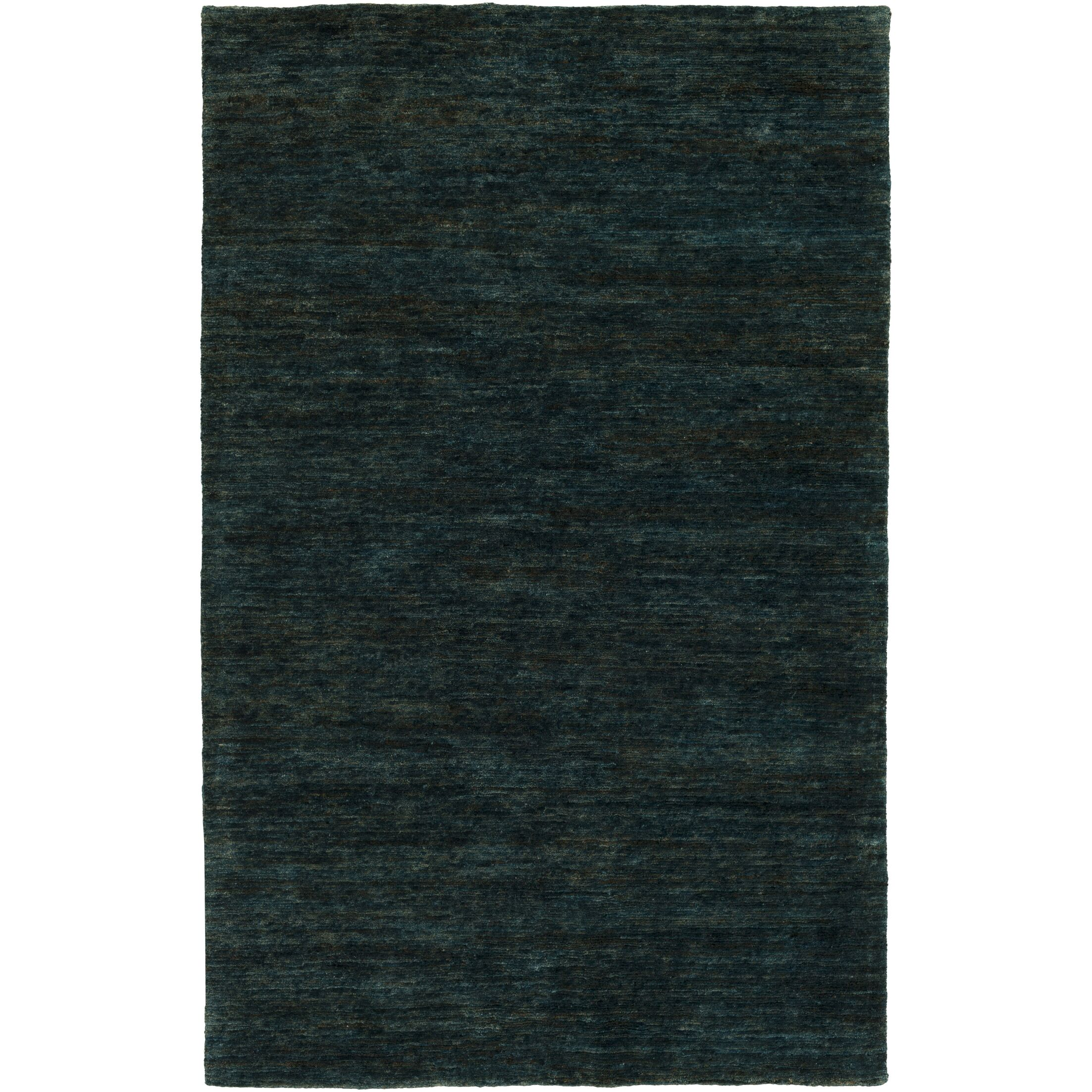 Nondoue Hand-Knotted Dark Green Area Rug Rug Size: Rectangle 3'3