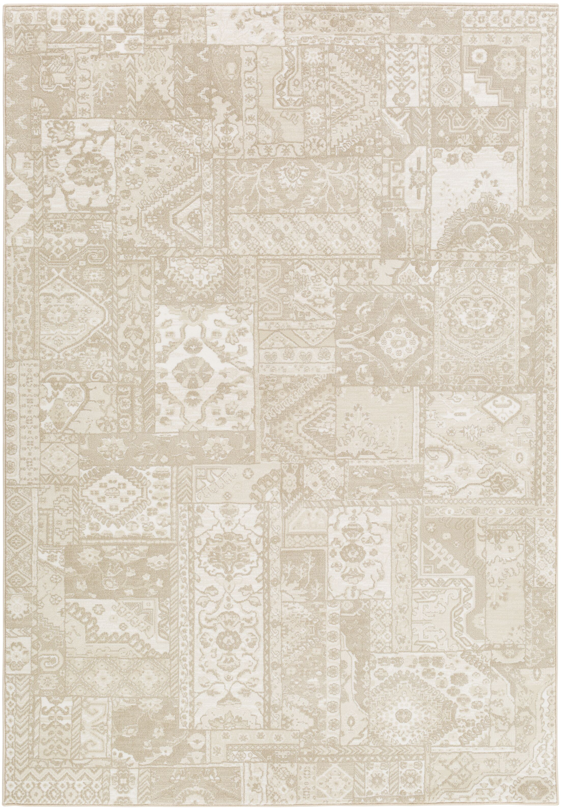 Shenk Brown/Neutral Area Rug Rug Size: Rectangle 5'3