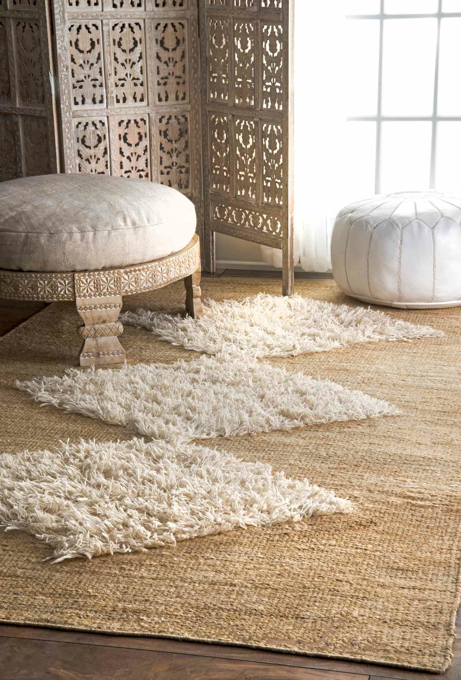 Cunningham Hand-Woven Beige Area Rug Rug Size: Rectangle 6' x 9'