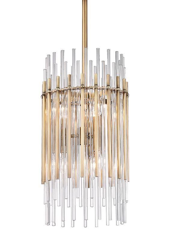 Saba 6-Light Cylinder Pendant Finish: Aged Brass