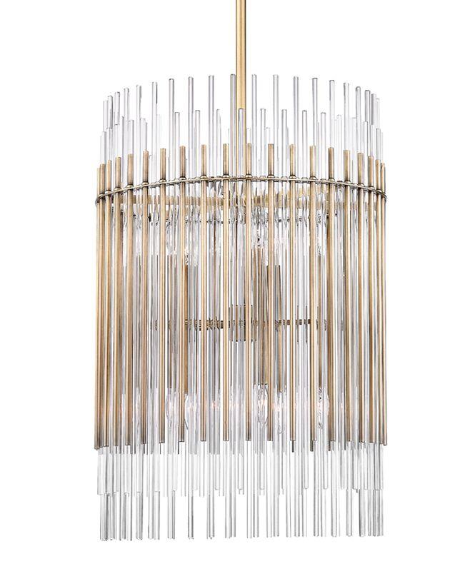 Saba 10-Light Cylinder Pendant Finish: Polished Nickel