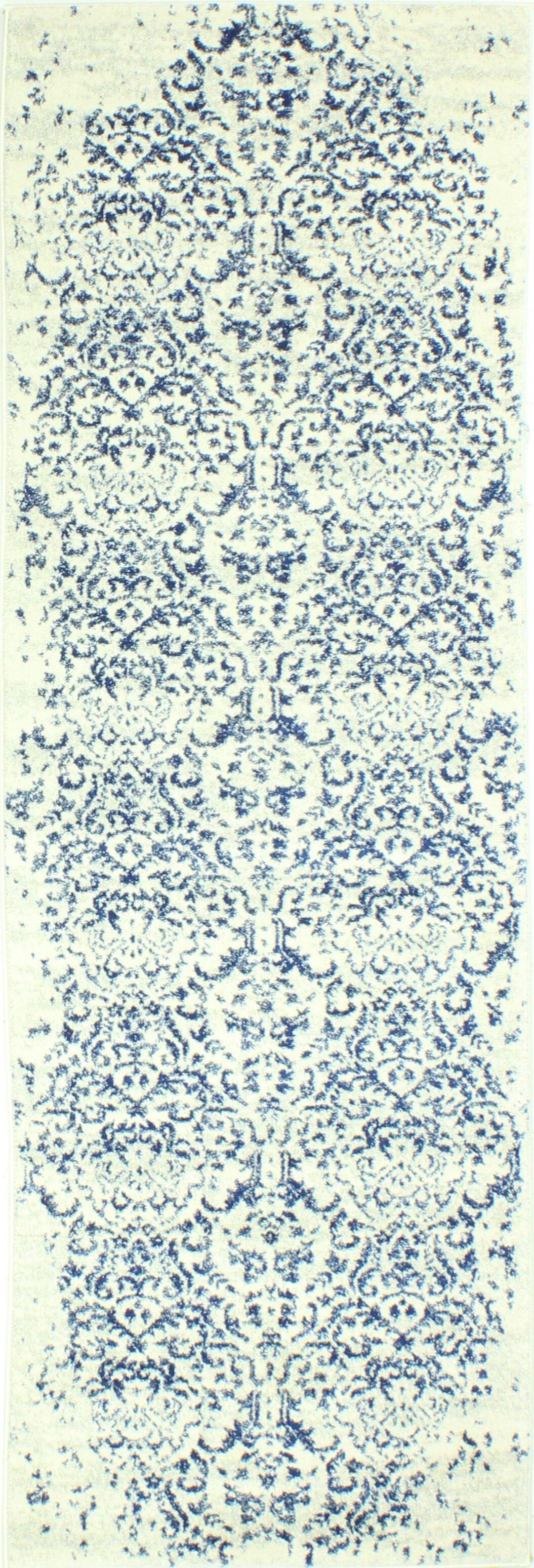 Arlingham Ivory/Blue Area Rug Rug Size: Runner 2'6