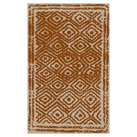 Sala Hand Woven Wool Burnt Orange/Beige Area Rug Rug Size: Rectangle 3'3