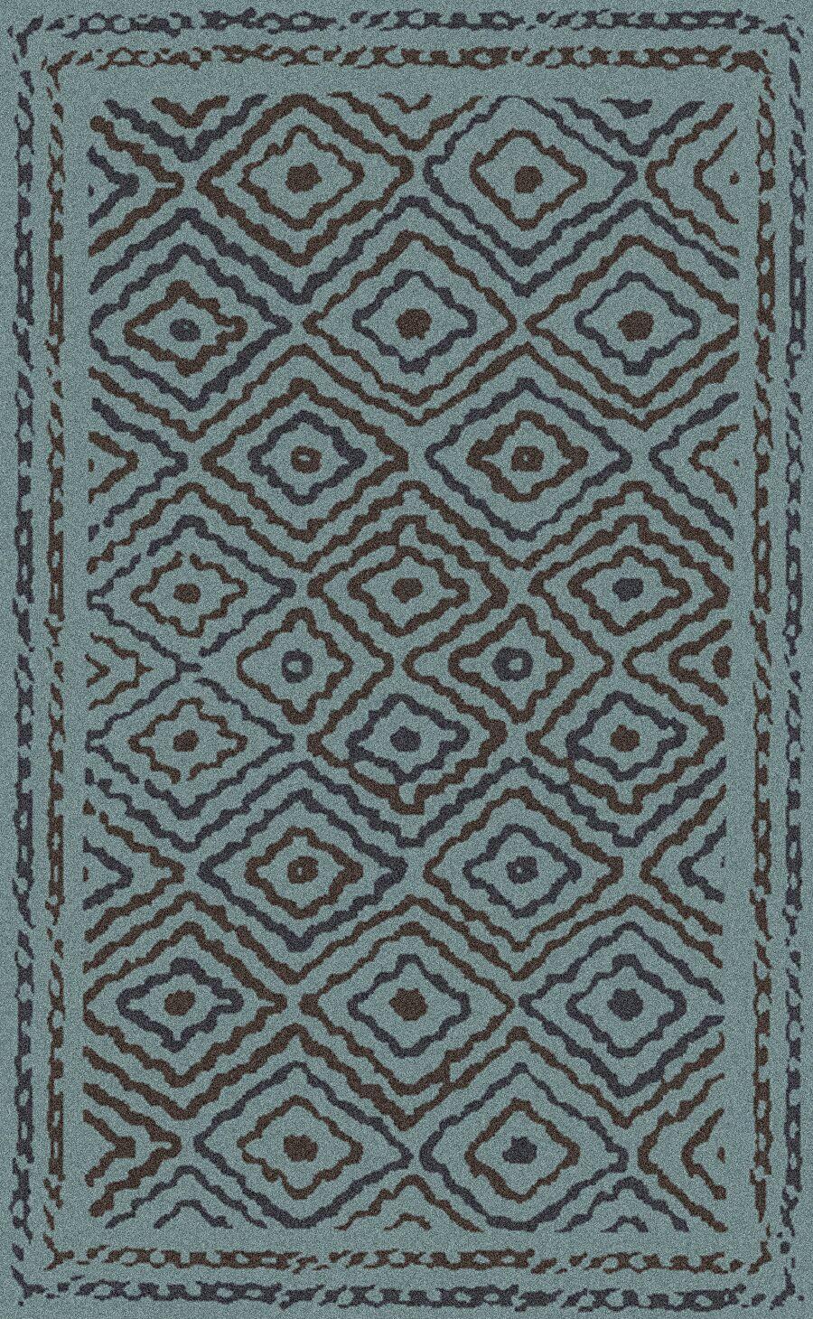 Sala Teal Area Rug Rug Size: Rectangle 8' x 11'