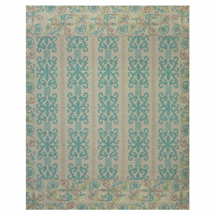 Thistle Teal/Green Area Rug Rug Size: Rectangle 8'6