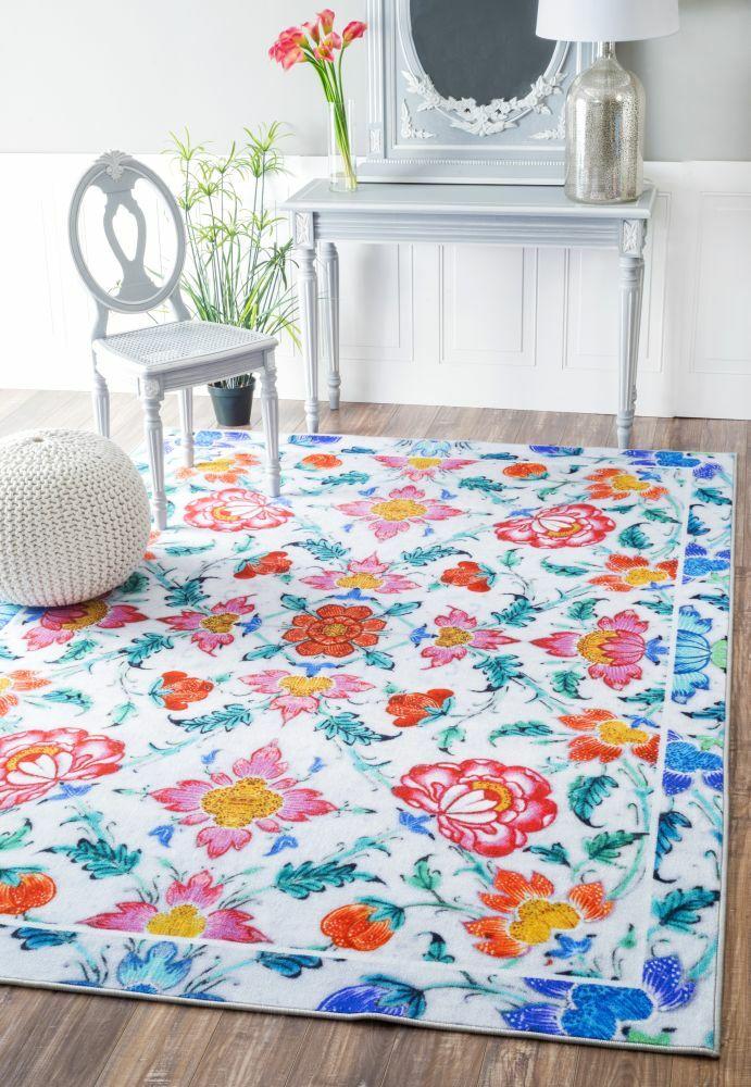 Azbane Tiles Blue/Pink Area Rug Rug Size: Rectangle 5'5