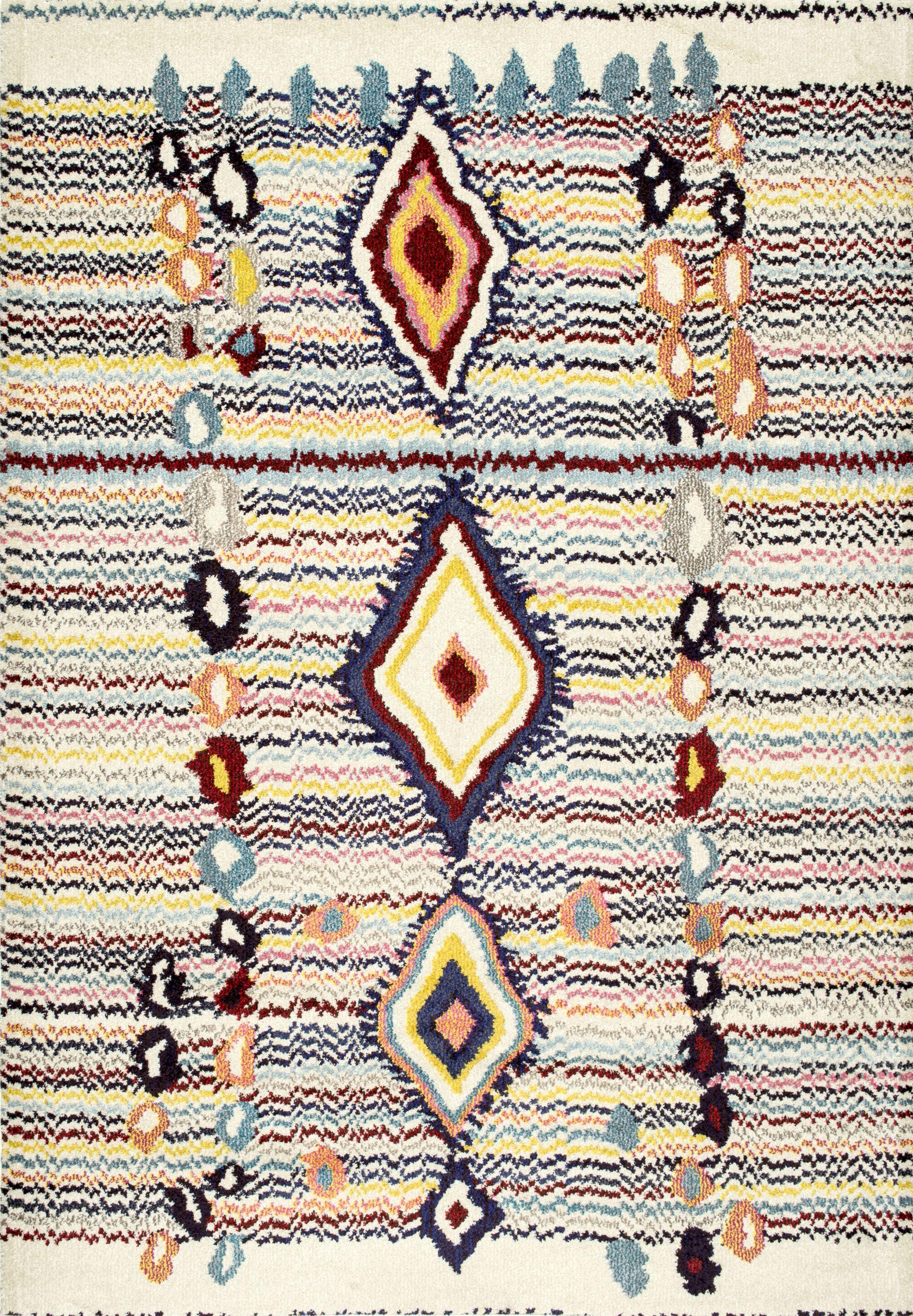Fatoumata Beige Area Rug Rug Size: Rectangle 5'3