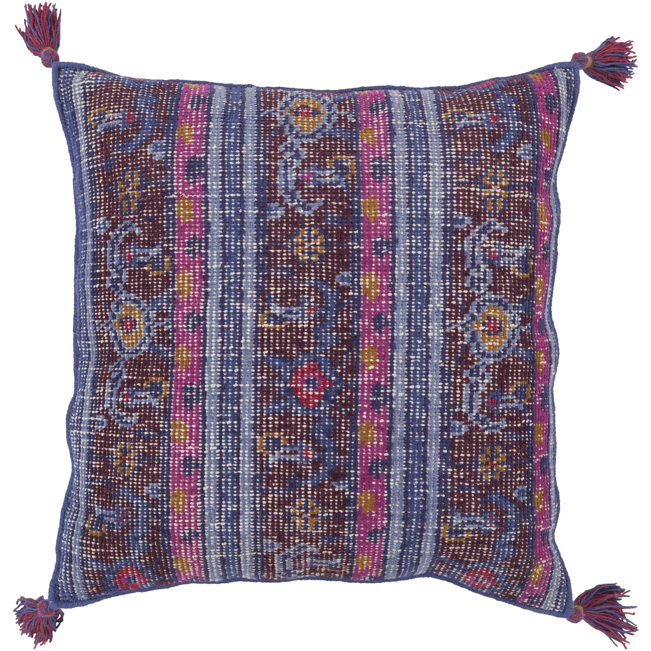 Blackshear 100% Wool Throw Pillow Cover Color: BluePurple