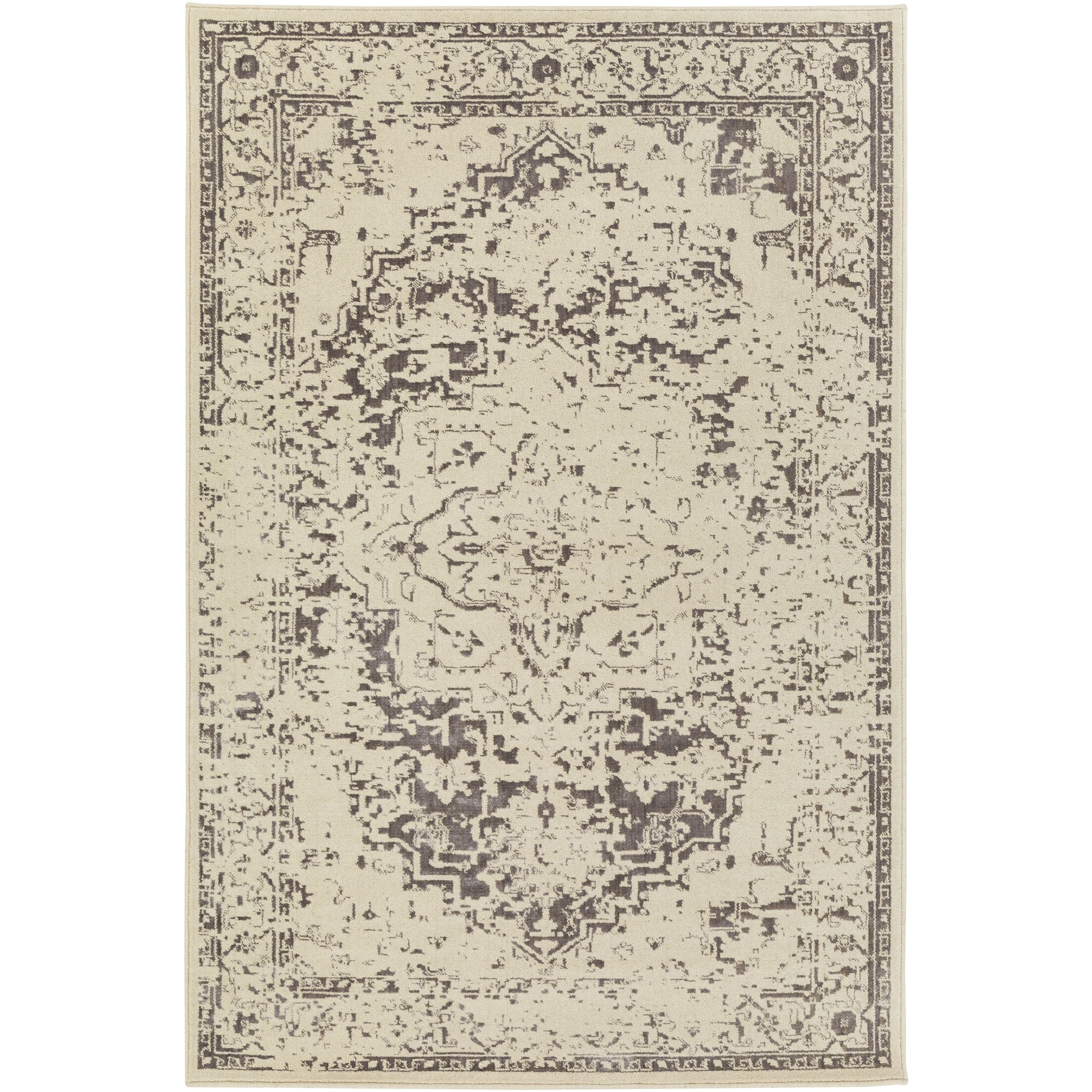 Puran Brown/Cream Area Rug Rug Size: Rectangle 7'10