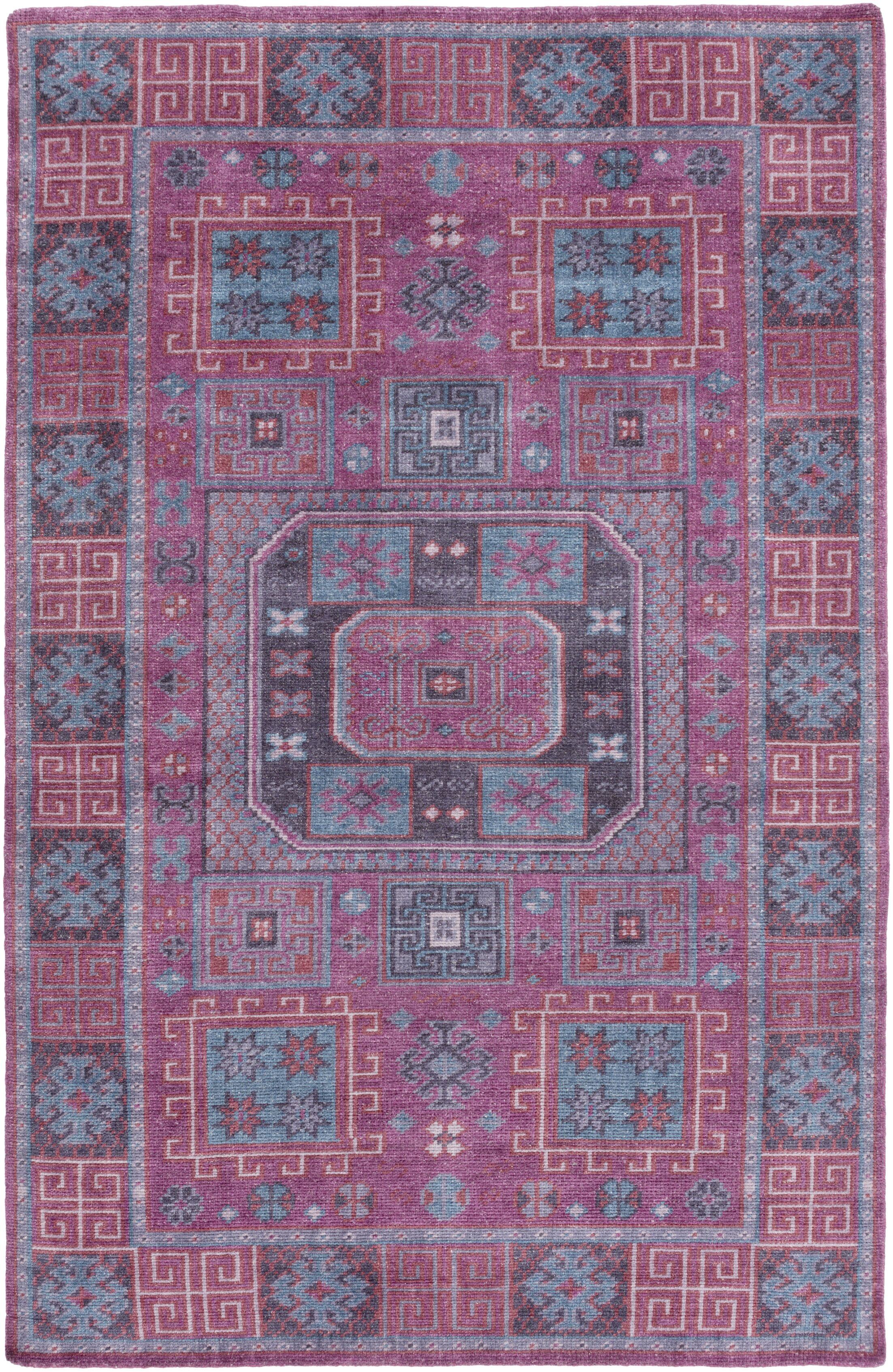 Bronwood Purple/Pink Area Rug Rug Size: Rectangle 2' x 3'