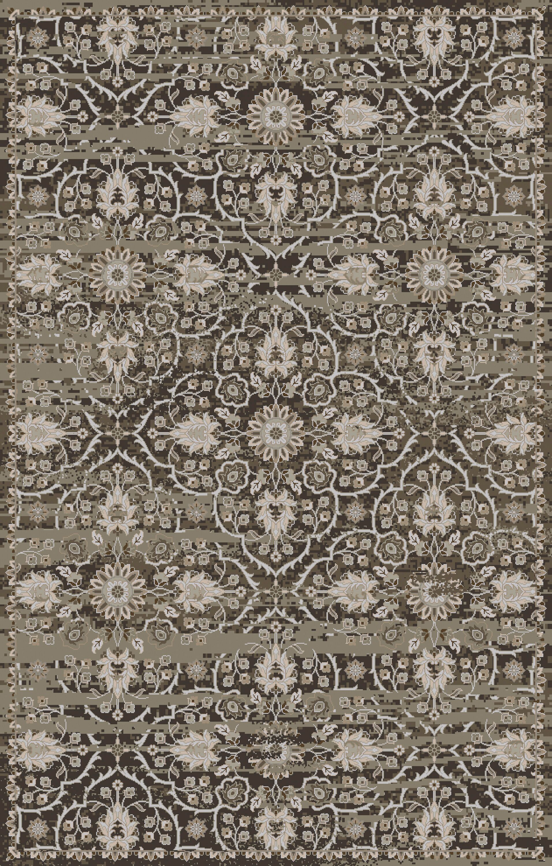 Halima Olive/Gray Area Rug Rug Size: Rectangle 3'6