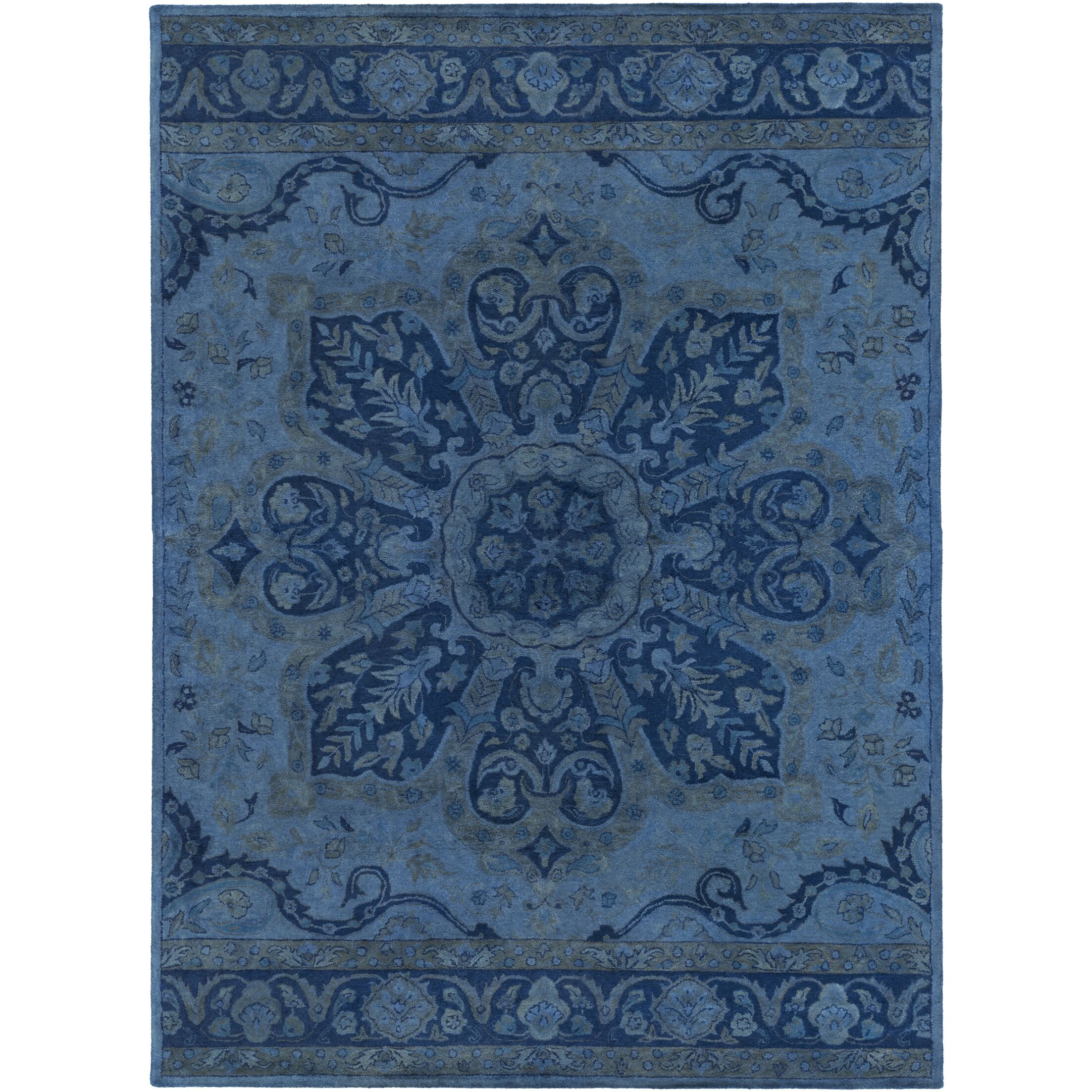 Arensburg Hand-Tufted Navy Area Rug Rug Size: Rectangle 8' x 11'