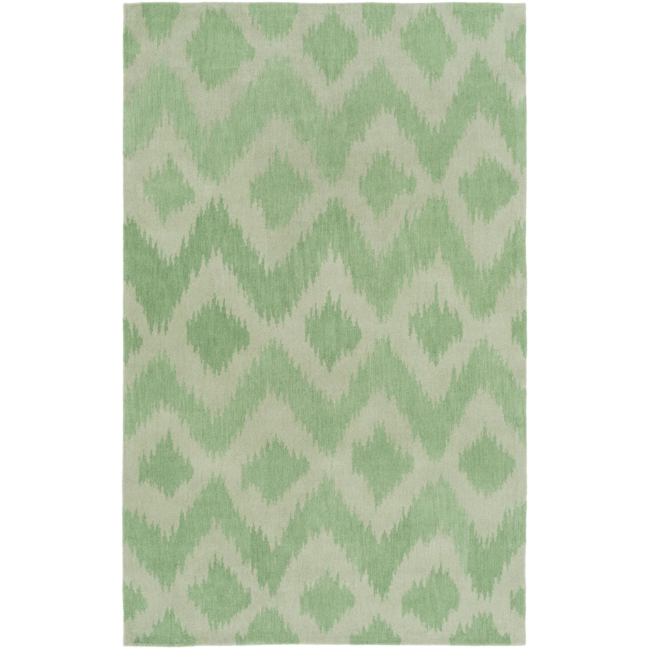 Arbuckle Hand-Tufted Grass Green/Moss Area Rug Rug Size: Rectangle 3' x 5'