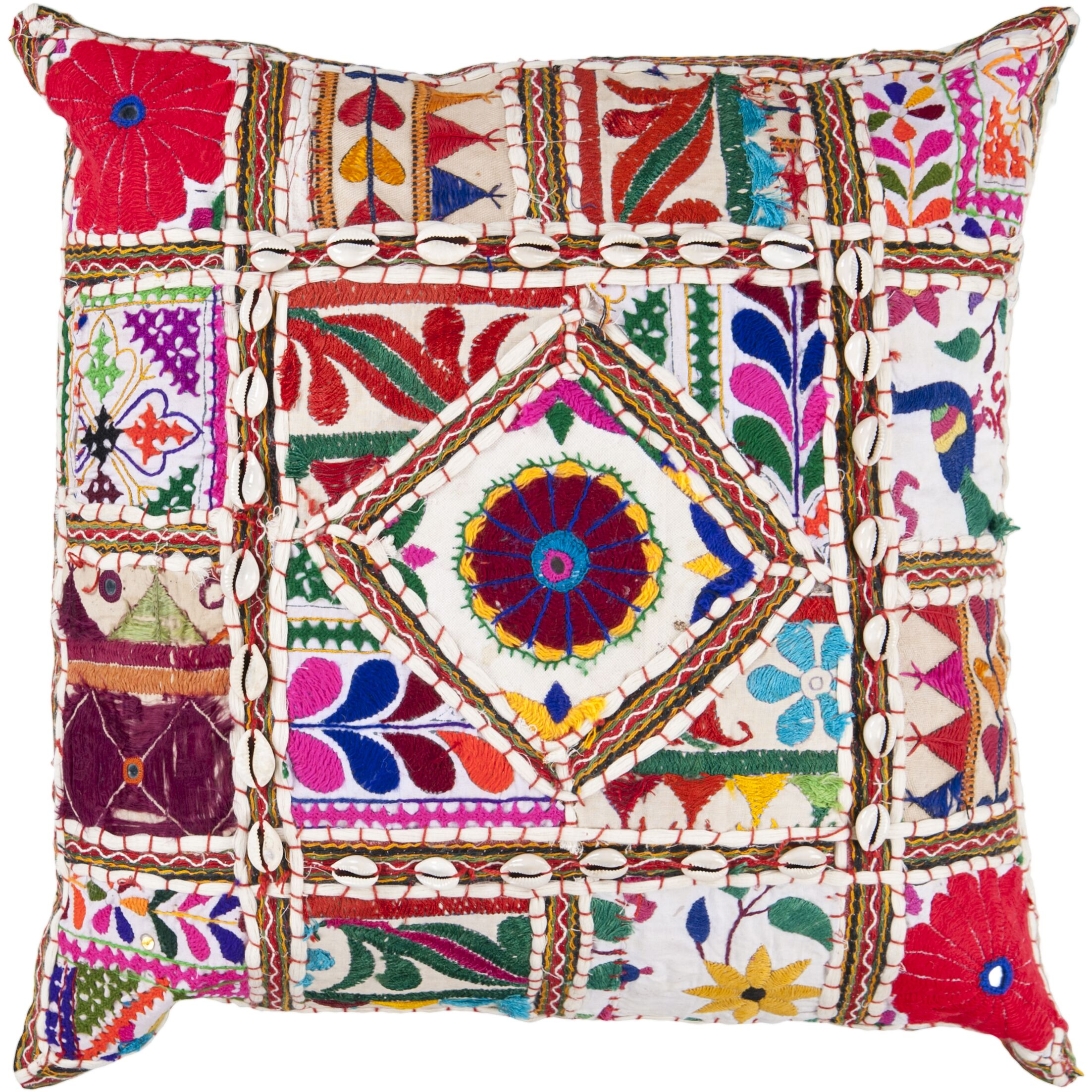 Anwar Throw Pillow Cover Size: 18