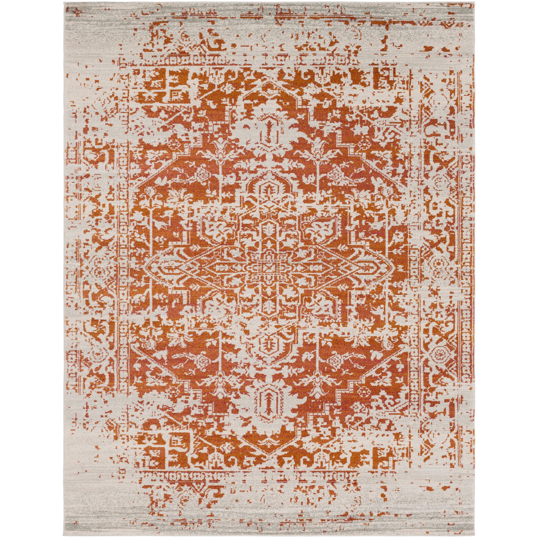 Hillsby Orange/Beige Area Rug Rug Size: Rectangle 9'3
