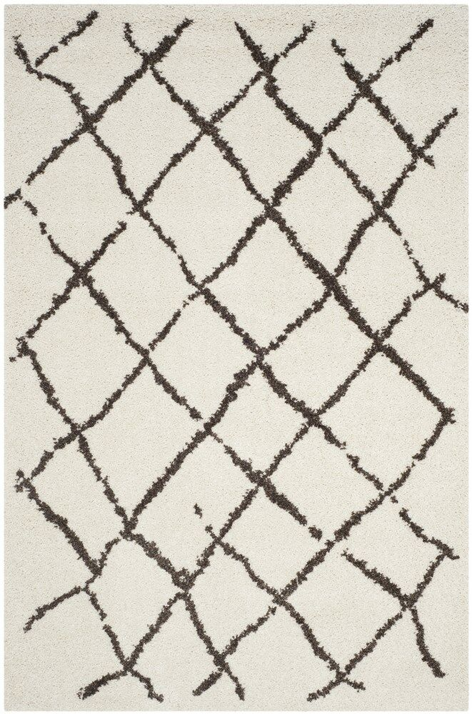 Zettie Creme/Brown Area Rug Rug Size: Rectangle 5'1